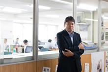 秋田県 中島英史 副知事(2015年4月~)。経済産業省でエネルギー、資源、環境分野の多数の業務に携わった経験を持つ。